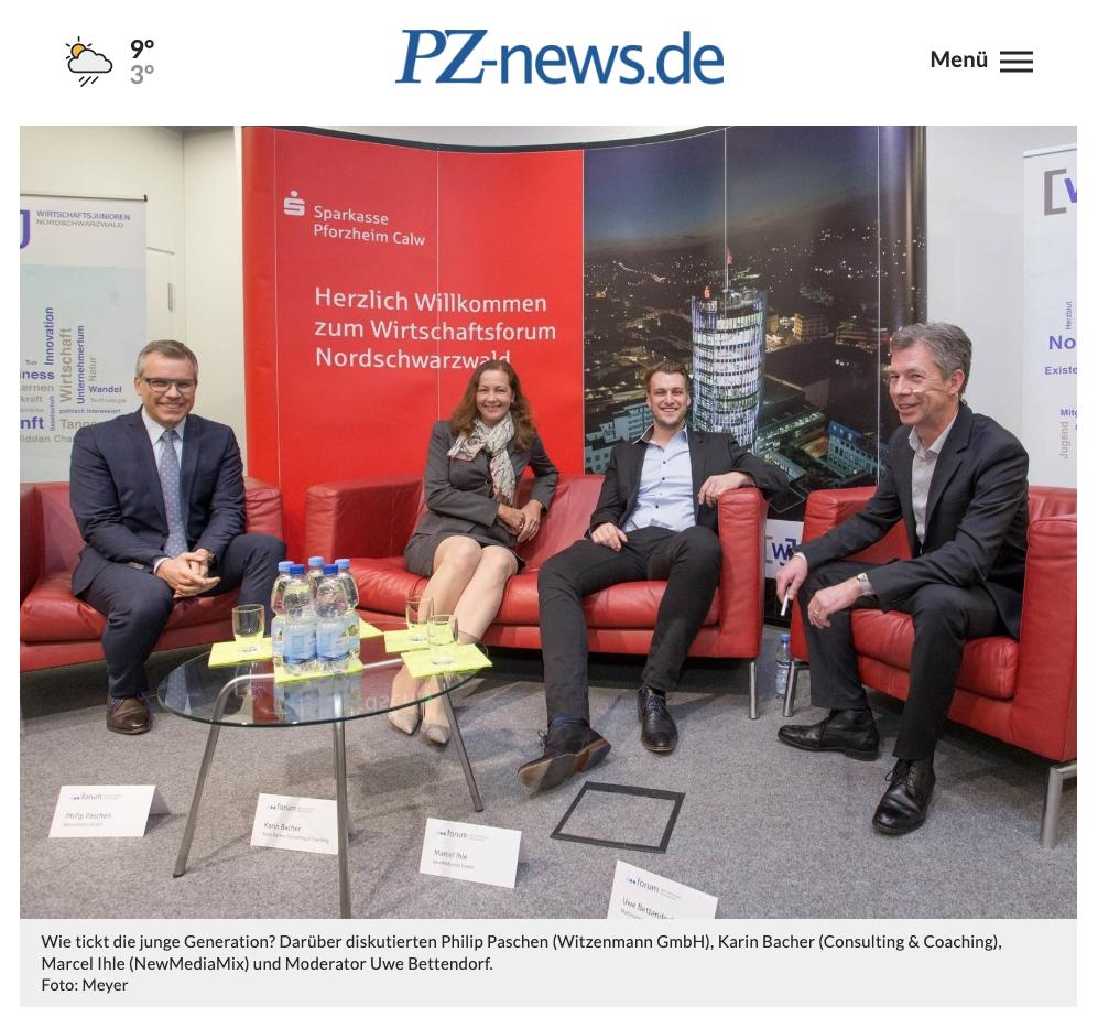 """Eine Generation mit Potenzial: Wirtschaftsforum Nordschwarzwald zur """"Generation Y"""""""