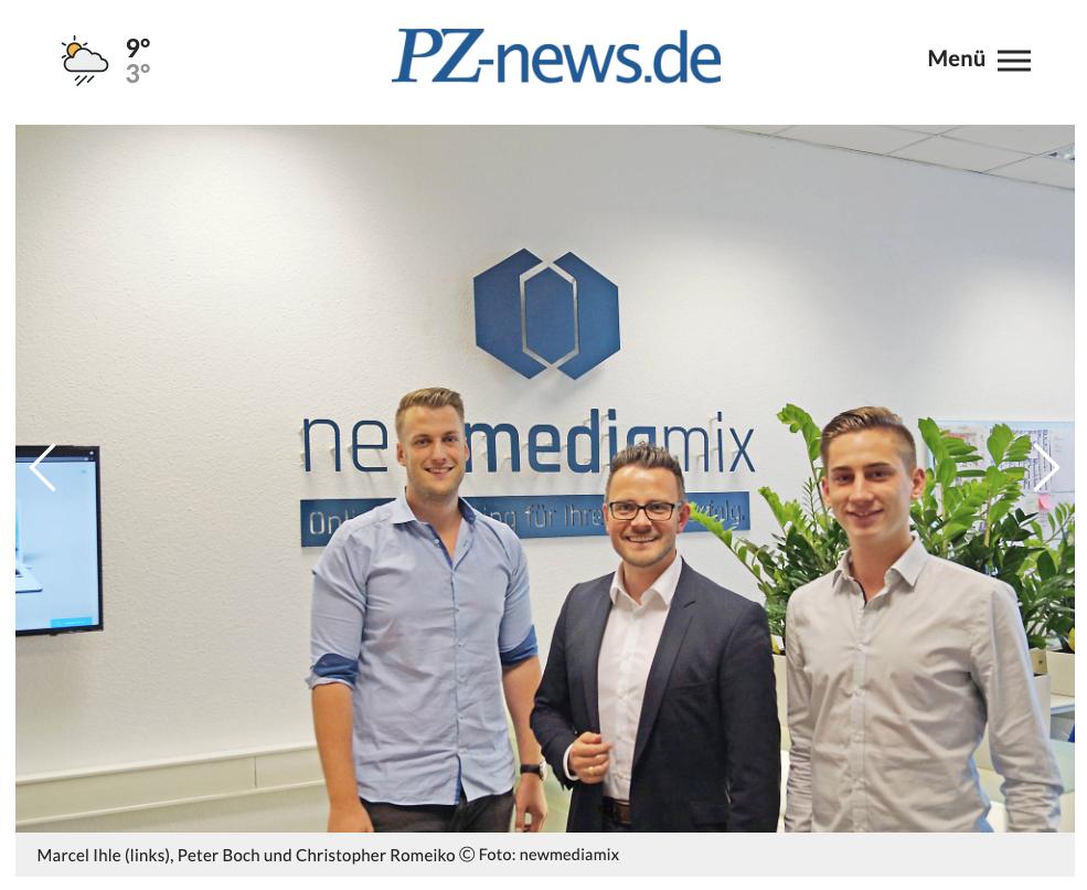 Zündende Ideen: OB Peter Boch besucht Existenzgründer im Innotec